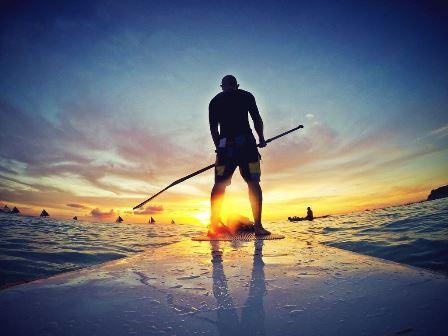 Dovolená u moře - paddleboard