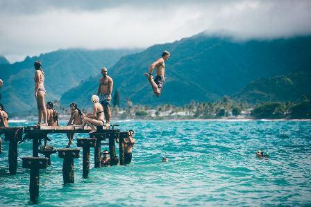 Dovolená u moře - plavání