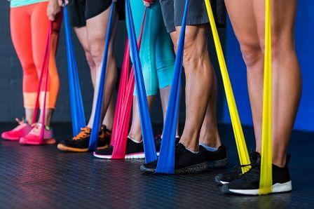 Odporová guma na cvičení - barevné varianty
