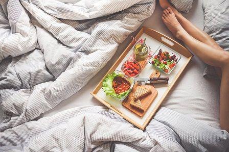 vyčerpání organismu - jídlo