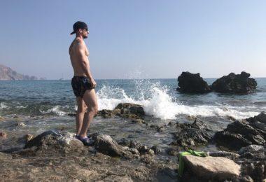 Cvičení u moře