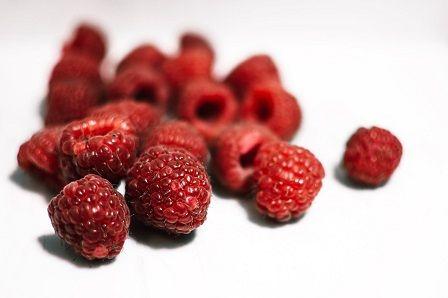 Vláknina v potravinách - maliny
