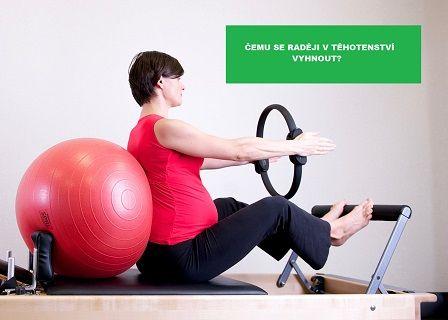 Bezpečný sport v těhotenství